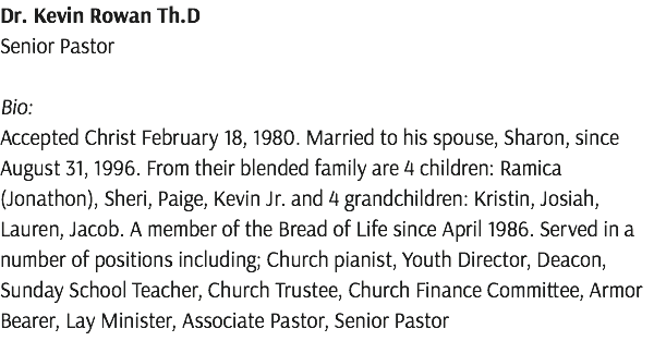 Dr. Kevin Rowan Th.D